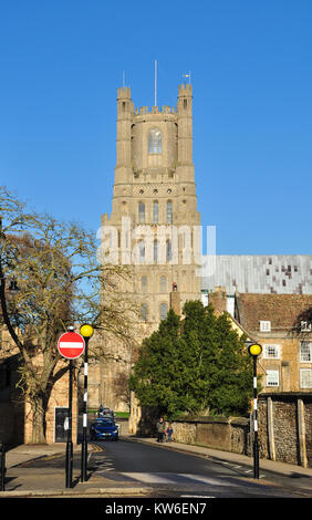 West Tower of the Cathedral from the Gallery, Ely, Cambridgeshire, England, UK - Stock Photo