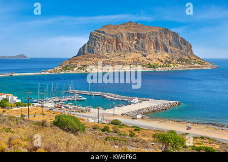 View on Monemvasia, Peloponnese, Greece - Stock Photo