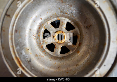 Plug hole in sink - Stock Photo