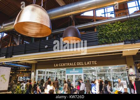 the milk factory station Fico Eataly World Bologna Italy - Stock Photo