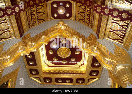 Ceiling in the temple in wat Traimit, Bangkok, Thailand - Stock Photo