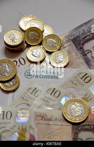 HM Revenue & Customs Self Assessment Statement  income tax return - Stock Photo