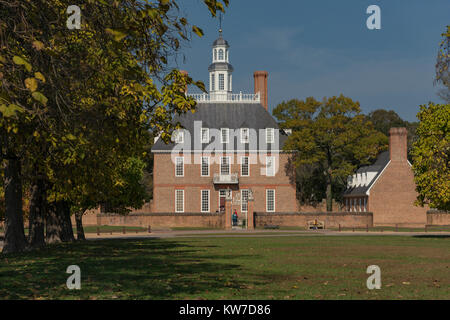 Colonial Williamsburg Governors Palace. - Stock Photo