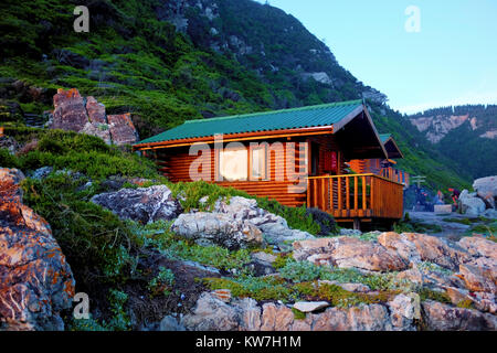 ... A Hut Overlooking The Sea Along The Otter Trail Hike On The Garden  Route In South