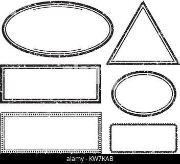 Set of grunge templates for rubber stamps - Stock Photo
