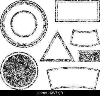 Big set of grunge templates for rubber stamps. Vector illustration. - Stock Photo