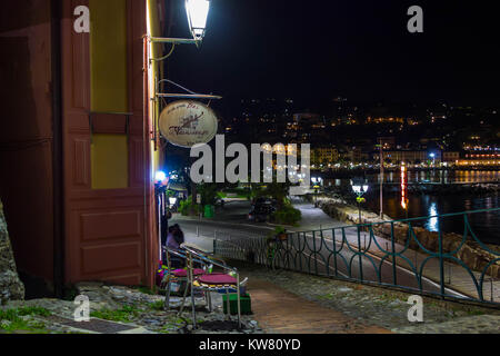 Santa Margherita night view across the bay - Stock Photo