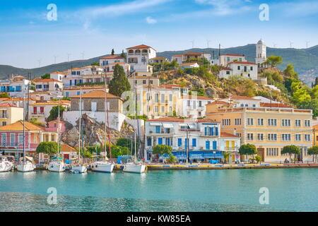 Poros Island, Argolida, Peloponnese, Greece - Stock Photo