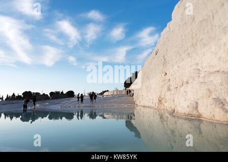 JANUARY 24; 2015 PAMUKKALE Pamukkale,is a natural site in Denizli Province in southwestern Turkey. Unidentified - Stock Photo