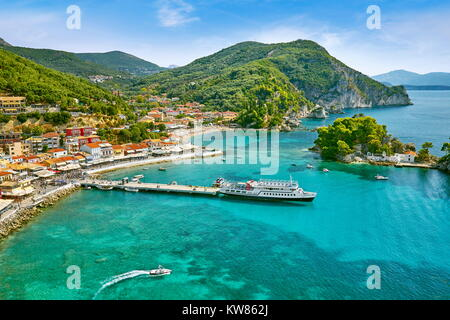 Townscape of Parga, Greece - Stock Photo
