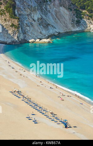 Myrtos Beach, Kefalonia (Cephalonia), Greek Ionian Islands, Greece - Stock Photo