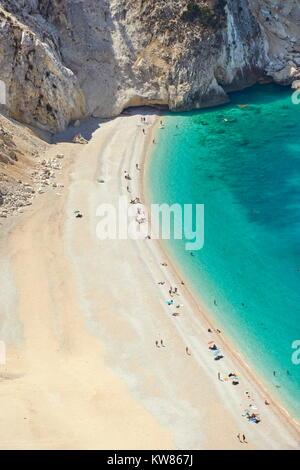 Myrtos Beach, Kefalonia (Cephalonia), Greek Ionian Islands, Greece - Stock Photo