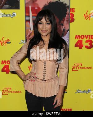 HOLLYWOOD, CA - JANUARY 23:  Former wife of pop star Prince Mayte Garcia attends Relativity Media's 'Movie 43' Los - Stock Photo