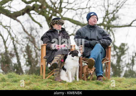 Cambridgeshire, UK. 31st December, 2017. Cottenham, Cambridgeshire UK 31st December 2017.   Crowds enjoy the Cambridgeshire - Stock Photo