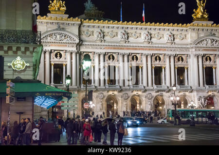France, Paris (75),Opera Garnier, Place de la Opera. - Stock Photo