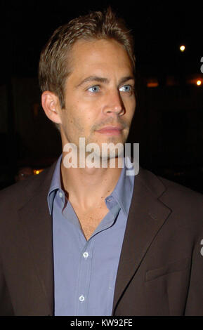 MIAMI, FL - NOVEMBER 30: Actor Paul Walker, who shot to fame as star of the high-octane street racing franchise - Stock Photo
