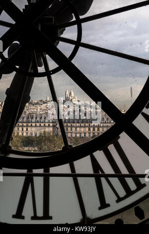 Clock in the Musee d'Orsay, Paris, France - Stock Photo