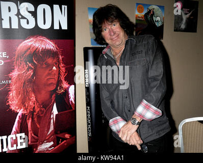 NEW YORK, NY - 2012: Keith Emerson, the flamboyant, English prog-rock pioneer who rose to fame as the keyboardist - Stock Photo