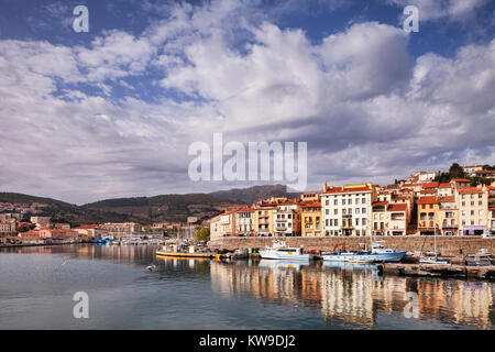 Port Vendres, Languedoc-Roussillon, Pyrenees-Orientales, France, - Stock Photo