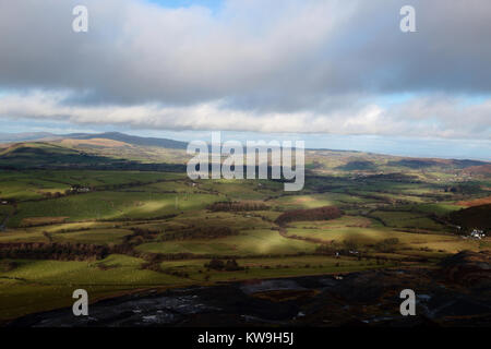 View from the Horseshoe Pass near Llangollen in Wales,  United kingdom - Stock Photo