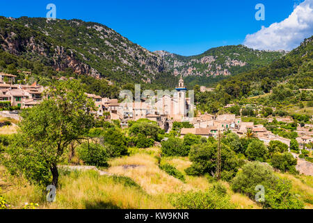 View on the Village of Valldemossa Mallorca - Stock Photo