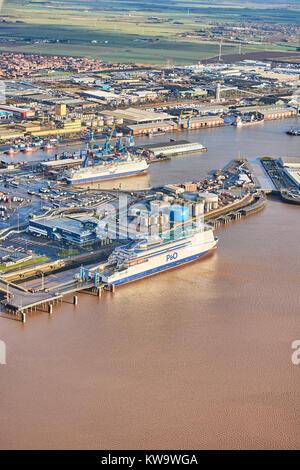 King George Docks Hull, East Yorkshire UK - Stock Photo