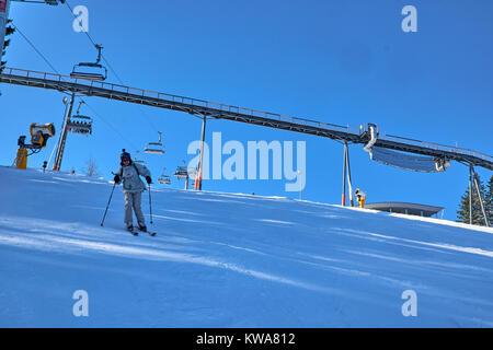 WINTERBERG, GERMANY - FEBRUARY 14, 2017: sat Ski Carousel Winterberg - Stock Photo
