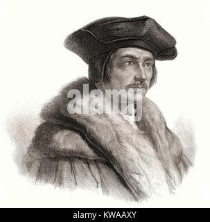 Sir Thomas More or Thomas Morus, 1478 - 1535, an English statesman, humanist writer - Stock Photo