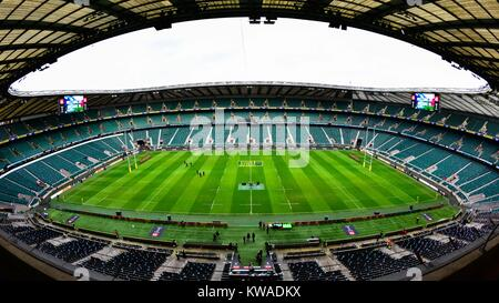 London, UK. 30th Dec, 2017. A general view of the stadium during Big Game 10 - Aviva Premiership match between Harlequins - Stock Photo