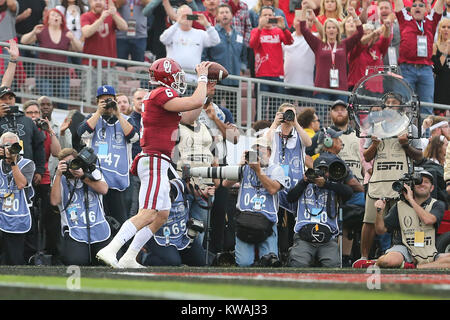 Pasadena, California, USA. 01st Jan, 2018. January 1, 2018: Oklahoma Sooners quarterback Baker Mayfield (6) makes - Stock Photo