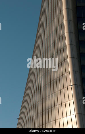 The daring shape of new Generali tower in Milan (Italy) - Stock Photo