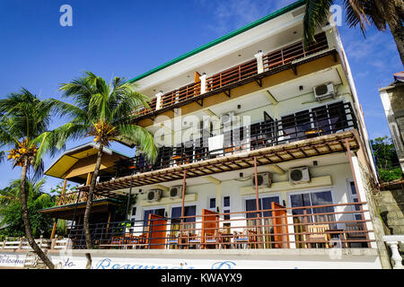 Palawan, Philippines - Apr 5, 2017. Facade of luxury hotel at El Nido Township in Palawan, Philippines. Palawan - Stock Photo