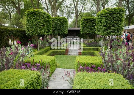 The Husqvarna Garden by Charlie Albone, RHS Chelsea Flower Show 2016, Chelsea, London, UK - May 2016 - Stock Photo
