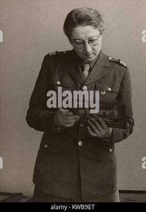 Rose Valland, a French Art Historian, secretly recorded details of the Nazi art plundering. During World War 2, - Stock Photo