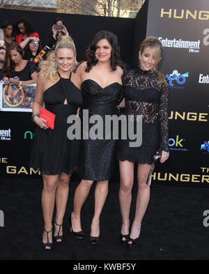 LOS ANGELES, CA - MARCH 12: Miranda Lambert_Angaleena Presley_Ashley Monroe arrives to the premiere of Lionsgate's - Stock Photo