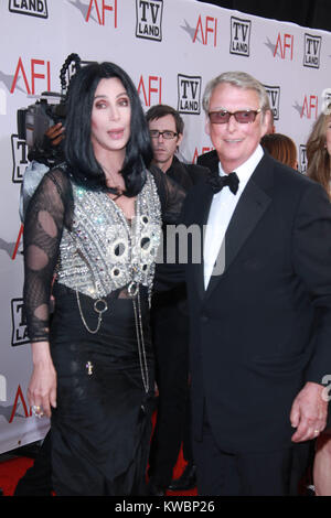 LOS ANGELES, CA - JUNE 10: Cher_Mike Nichols at  theTV Land's 2010 AFI Life Achievement Awards Honoring Mike Nichols - Stock Photo
