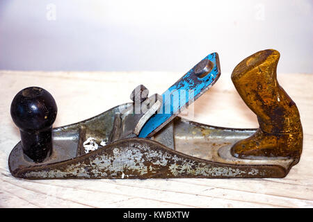 Old planer on a natural background - Stock Photo