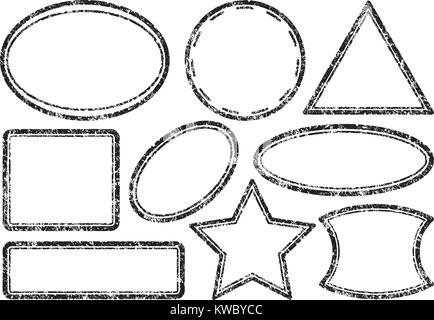 Big set of grunge templates for rubber stamps - Stock Photo