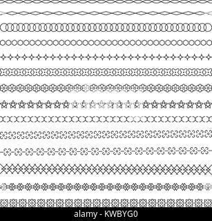 Set of calligraphic decorative dividers, design elements and ornamental lines - Stock Photo