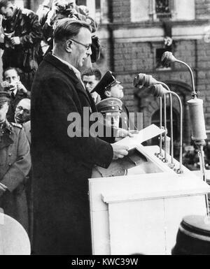 Arthur Seyss-Inquart was Chancellor of Austria for two days before the German annexation of Austria. The Austria - Stock Photo