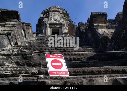 No entrance, Angkor wat, Cambodia - Stock Photo