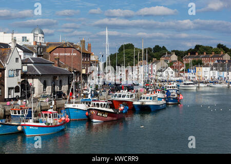 WEYMOUTH, DORSET, ENGLAND: The Old Harbour - Stock Photo
