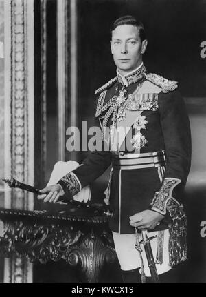 King George VI of Britain, shortly before his coronation in May 1937 (BSLOC 2017 1 89) - Stock Photo