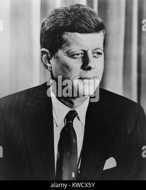 President John F. Kennedy, c. 1960-1963. (BSLOC_2017_2_195) - Stock Photo