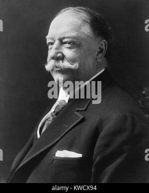 Former President William H. Taft, in 1916. He was then Kent Professor of Law and Legal History at Yale Law School. - Stock Photo