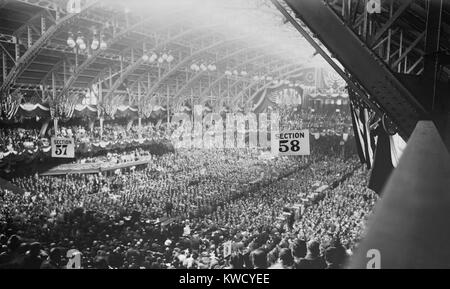 1912 Republican National Convention in session in Chicago Coliseum, Illinois, June 18-22. Roosevelt was the favorite - Stock Photo