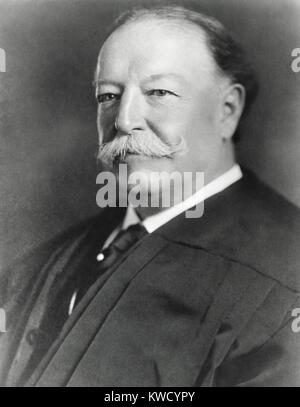 Former President William H. Taft, in judicial robes as Chief Justice of the Supreme Court, c. 1921 (BSLOC_2017_2 - Stock Photo