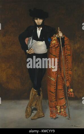 Young Man in the Costume of a Majo, by Edouard Manet, 1863, French impressionist oil painting. Manets younger brother - Stock Photo