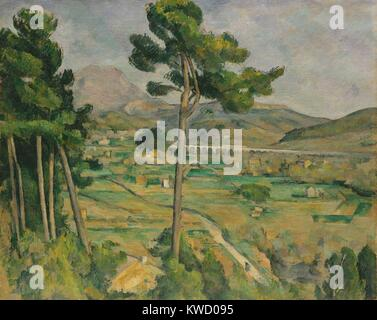 Mont Sainte-Victoire, Viaduct of the Arc River Valley, by Paul Cezanne, 1882-85, Post-Impressionism. Cezannes native - Stock Photo