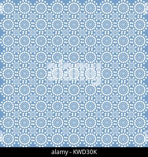 White lace from circles on a blue background - Stock Photo